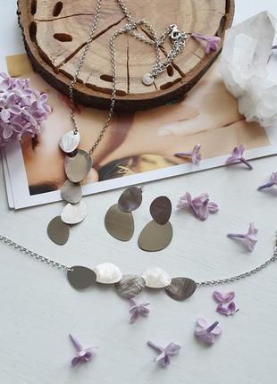 Комплект украшений, серебро 925 пробы. италия
