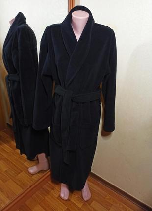 Теплый флисовый халат