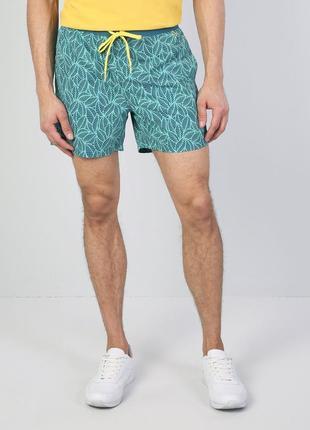 Пляжні шорти чоловічі зелені вузького крою плавки мужские шорты.
