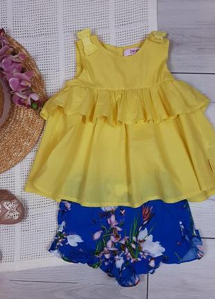 Комплект baker блузка шорты для девочки