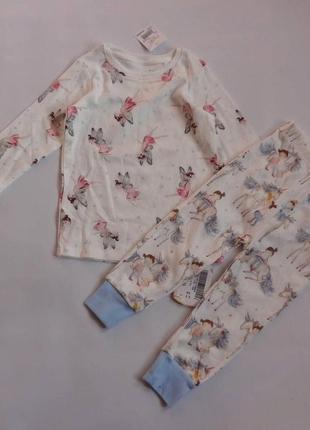 Next. пижама с единорогом и феей, комплект для дома на 1 - 2 года.