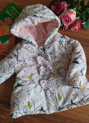 Ультрамодная демисезонная куртка на милашку bobaluno на 9-12 месяцев.