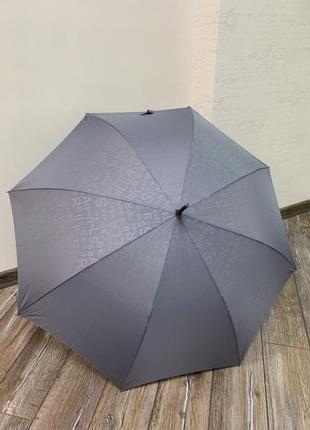 Зонт ☂️ трость серого цвета