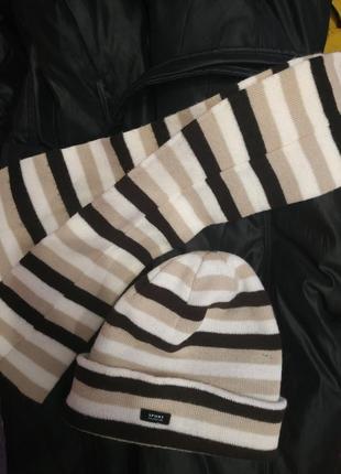 Комплект,шапка с шарфом