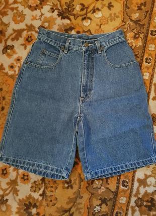 Модные джинсовые шорты с высокой посадкой! chaus sport! usa!