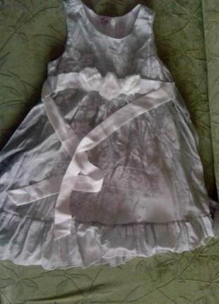 Шикарное шелковое платье для девочки eve. р.128
