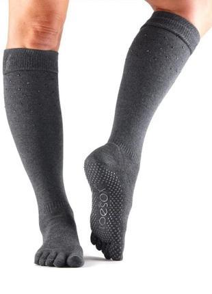 Гольфы носки для йоги и фитнеча toesox
