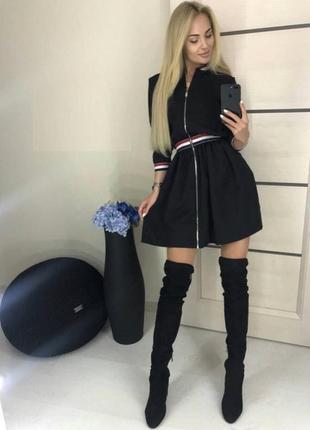 Стильное платье на молнии