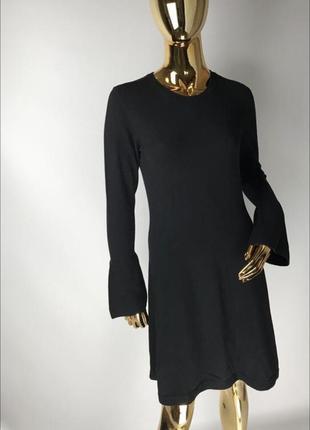 Тепловое трикотажное черное платье espirit ( edc)