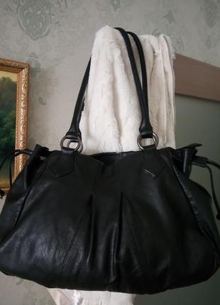 Шикарная большая кожаная сумка vivala diva1