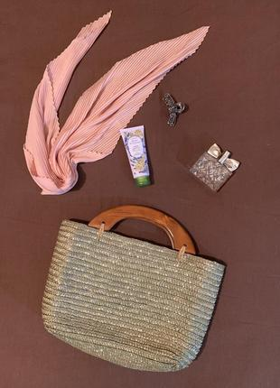 Плетена сумка toni dress / вязаная сумочка / соломяная сумочка, модная сумка