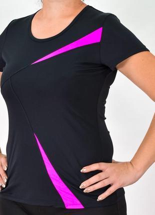 Спортивная женская футболка большие размеры от 50 до 60