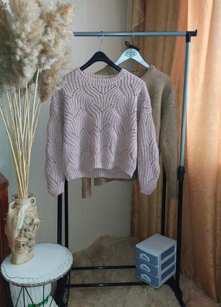 Ажурный свитер only p s