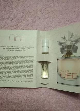 Пробник парфюмированной водой avon life for her