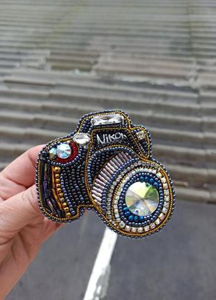 Роскошная брошь фотоаппарат для талантливого, профессионального фотографа3 фото