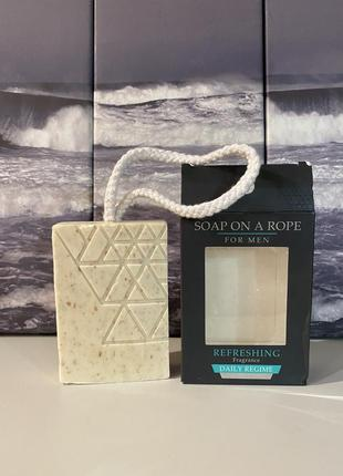 🏴 подарок мужчине, огромное парфюмированное энергетическое мыло на веревке.