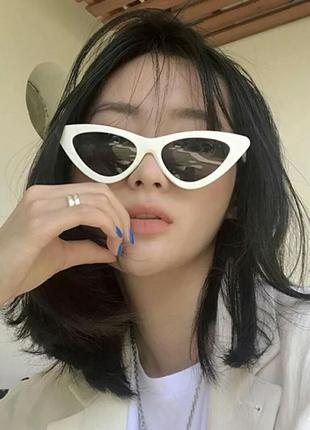 Стильные затемненные ретро очки