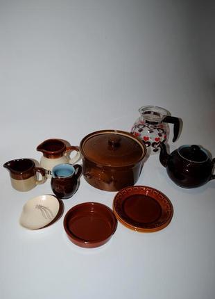 Набор из кастрюля для запекания молочник блюдце чайник винтаж редкий англия