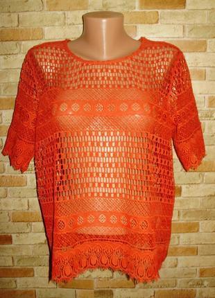 Кружевная блуза плотное кружево 16/50-52 размера
