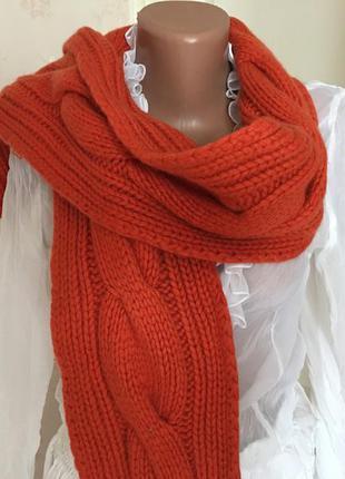 Шикарный кашемировый шарф, тёплый