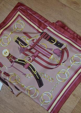 Шарф платок в стиле hermes в цепях как шелковый под шелк цепи принт