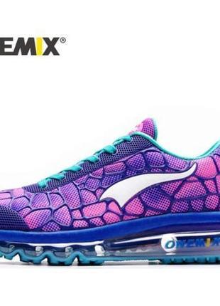 Фиолетовые розовые разноцветные кроссовки со вставками на пластиковой подошве омбре