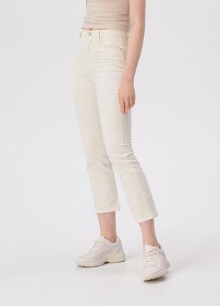 Вельветовые, укороченные штаны sinsay. новые