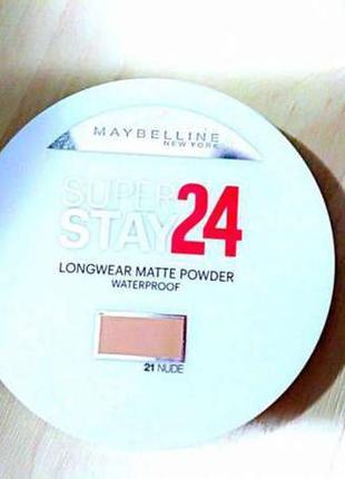 Новая пудра 24 ч . maybelline