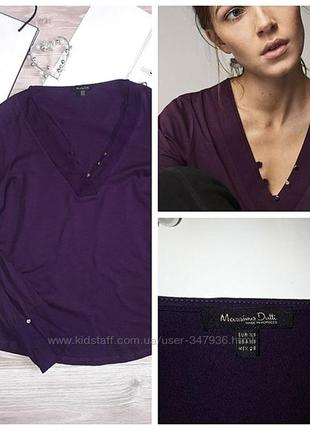 Massimo dutti оригинальная трикотажная блуза р xs сток