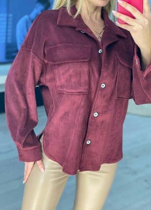 Рубашки женские оверсайз вельвет снова в тренде