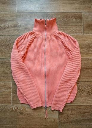 Esprit теплый свитер на молнии р.s