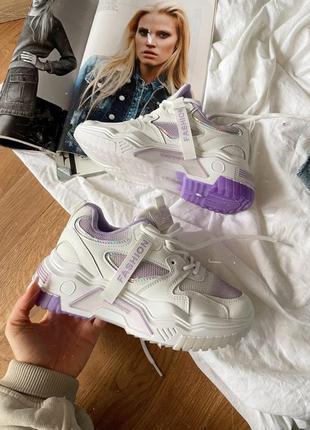 Кросовки белые с фиолетовым 💓