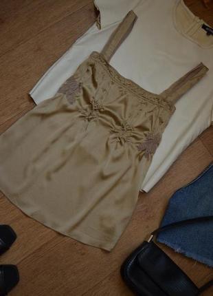 Shumacher шелковая майка оригинал шелк брендовая прямая необычная винтажная