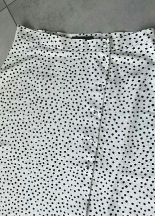 Макси юбка в горошек на пуговках