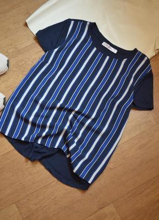 Gloria jeans легкая прямая футболка в полоску полосатая базовая повседневная