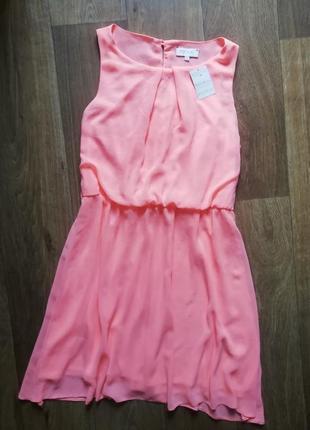 Шифоновое платье, платье неоновое, сарафан, плаття, сукня