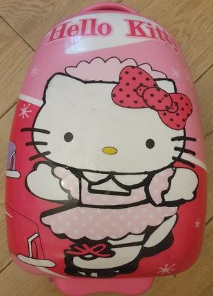 Пластиковый детский чемодан hello kitty