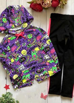 Детский стильный спортивный костюм турция двунитка