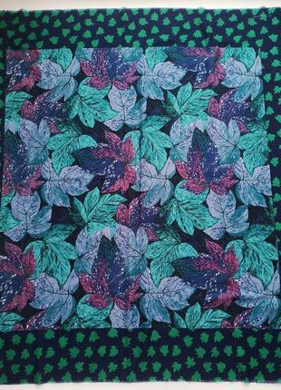 Большой огромный винтажный платок шарф шаль винтаж италия franco laurenti