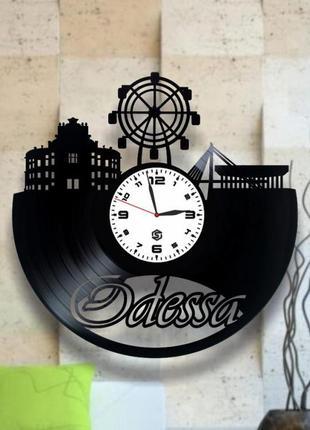 """""""одесса"""" - настенные часы из виниловых пластинок. уникальный подарок! в наличии!"""