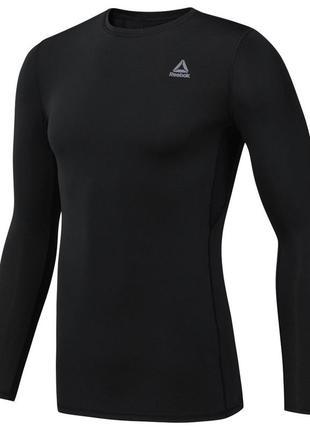Компрессионная футболка reebok kwor compr lo sleeve black