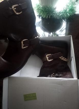 Ботинки с цепью , утеплённые ботинки