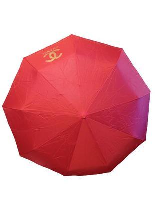 Зонт женский красный автомат