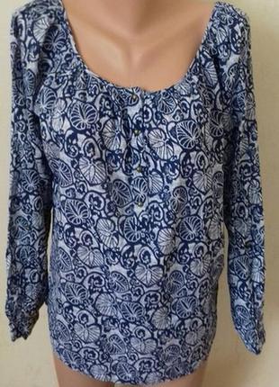 Натуральная блуза с принтом f&f