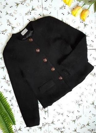 🎁1+1=3 шикарная черная плотная куртка шубка charles grey, 100% шерсть, размер 46 - 48