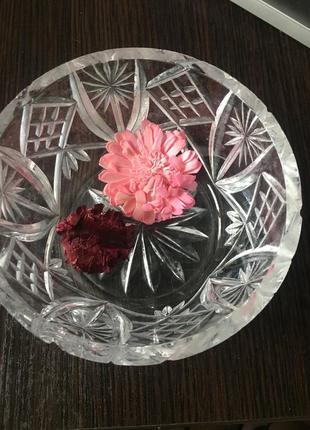 Хрустальный салатник / конфетница времён ссср