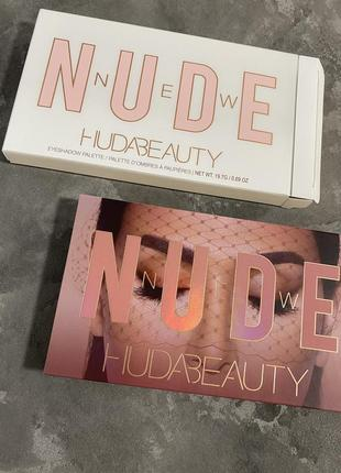 Палетка теней huda beauty new nude