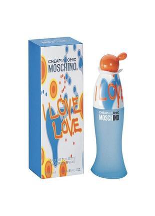 Moschino love love туалетная вода духи 100ml