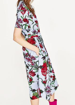 Платье-туника рубашечного кроя zara оригинал из испании р.l