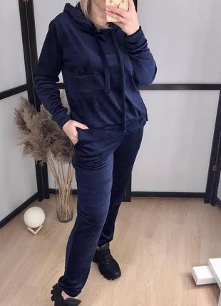 Женский костюм велюр